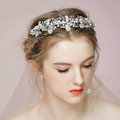 Elegant Bridal Wedding Rhinestone Alloy Pearl Snowflake Crystal Bride Headband Hair Hoop Accessories