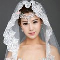 Elegant Cathedral 300cm Long Handmade Lace Flower Bridal Wedding Veil Bride Deco