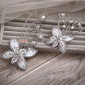 Elegant Wedding Hair Clip Jewelry By hand Crystal Lace Butterfly Bridal Hair Pin Accessories