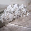 Elegant Wedding Hair Clip Jewelry By hand Pearl Crystal Flower Bridal Hair Comb Accessories