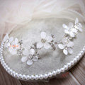 Elegant Wedding Headdress Jewelry Lace Butterfly Flower Crystal Bridal Headband Hair Accessories