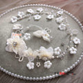 Elegant Wedding Headdress Pearl Rhinestone Crystal Tulle Flower Bridal Headband Hair Accessories