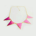 Europe Fashion Women Rose Gold-plated Punk Big Triangle Metal Bib Necklace Clavicle Chain