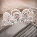 Fashion Wedding Jewellery Rhinestone Pearl Crystal Beads Tiaras Bridal Crown Hair Accessories