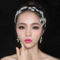 Fashionable Unique Wedding Headdress Rhinestone Crystal Flower Bridal Headband Hair Accessories