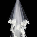 High end Elegant Cathedral 300cm Long Handmade Lace Flower Bridal Wedding Veil Bride Deco