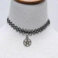 Hot sale Fashion Women Metal David Star Elastic Tattoo Choker Necklace Clavicle Chain