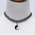 Hot sale Fashion Women Metal Tai Chi Elastic Tattoo Choker Necklace Clavicle Chain