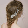 Luxury Bridal Wedding Pearl Alloy Flower Rhinestone Crystal Bride Headband Hair Clip Accessories