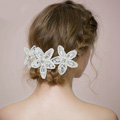 Retro Bridal Wedding Lace Pearl Bead Flower Rhinestone Crystal Bride Headband Hair Accessories