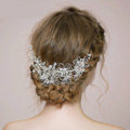 Retro Bridal Wedding Pearl Bead Alloy Floral Rhinestone Crystal Bride Headband Hair Accessories
