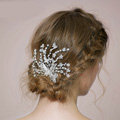Retro Bridal Wedding Pearl Butterfly Rhinestone Crystal Bead Bride Headband Hair Clip Accessories