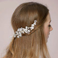 Retro Bridal Wedding Rhinestone Bead Alloy Floral Crystal Pearl Bride Headband Hair Accessories