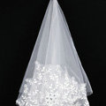 Retro Cathedral Handmade Lace Flower Rhinestone Bridal Wedding Veil Bride Deco