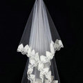 Retro Elegant Cathedral 300cm Long Handmade Lace Flower Mountain Bridal Wedding Veil Bride Deco