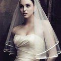 Romantic Cathedral Multilayer 150cm Length Satin Edge Bridal Wedding Veil Hot Sell