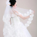 Romantic Cathedral Multilayer 300cm Length Lace Flower Edge Bridal Wedding Veil Hot Sell