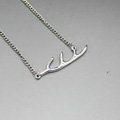 Unique Fashion Simple Women Silver Gold-plated Short Metal Branch Shape Necklace Clavicle Chain