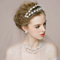 Vintage Wedding Bridal Jewelry Forest girl Flower Rhinestone Crystal Bead Tiaras Necklace Earrings Set