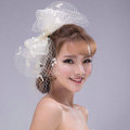 Bowknot Crystal Lace Gauze Bridal Fascinator Headpiece Bride Wedding Dress Prom Face Veils Hair Accessories