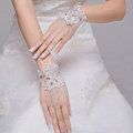 Elegant Rhinestone Lace Flower Bridal Wristlet Wedding Dress Stage Beads Tassel Bracelet Chain Accessories