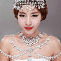 European Extreme Luxury Crystal Bridal Necklace Rhinestone Shoulder Chain Wedding Dress Jewelry