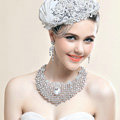 European Fashion Crystal Bridal Necklace Chain Rhinestone Shoulder Chain Wedding Jewelry