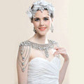 European Luxury Crystal Tassel Bridal Necklace Rhinestone Shoulder Chain Wedding Pary Jewelry