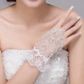 Fashion Pearl Rhinestone Lace Bridal Wristlet Wedding Dress Stage Beads Bracelet Chain Accessories