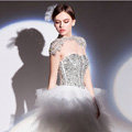 Gorgeous Bride Lace Rhinestone Shawl Wedding Crystal Necklace Bridal Shoulder Chain Stage Jewelry