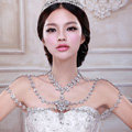 High Quality Fashion Crystal Bridal Necklace Rhinestone Large Shoulder Body Chain Wedding Jewelry