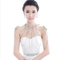 High Quality Sexy Crystal Bridal Necklace Rhinestone Long Tassel Shoulder Body Chain Wedding Jewelry