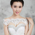 Hot sales Bride Wedding Lace Flower Crystal Shawl Rhinestone Bridal Princess Shoulder Chain Jewelry