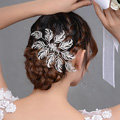 New Arrival Large Leaf Clear Crystal European Style Bridal Hair Combs Hairpin Wedding Hair Accessories