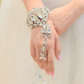 New Fashion Butterfly Designs Bridal Wrap Bracelet Big Rhinestone Wedding Bangle Chain Jewelry