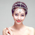 Newest Bohemia Style Flower Rhinestone Pendent Tassel Frontlet Bridal Headpiece Wedding Hair Accessories