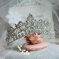 Oversize Flower Crystal Bride Wedding Tiaras Princess Rhinestone Pageant Crowns Hair Accessory
