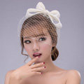 Princess Bowknot Gauze Bridal Fascinator Hair Clip Accessories Bride Wedding Dress Prom Face Veils