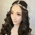 Sweety Leaves shape Rhinestone Pendent Frontlet Bridal Wedding Party Hair Headpiece Accessories