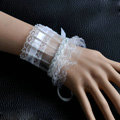 Vintage Gothic Style Rhinestone Lace Bridal Wristlet Wedding Dress Party Perform Bracelet Accessories