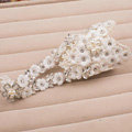Vintage Lace Flower Rhinestone Bridal Wristlet Wedding Dress Perform Crystal Pearl Bracelet Accessories