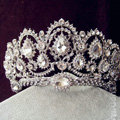 Vintage Peacock Crystal Tiaras Bridal Hair Accessories Wedding Pageant Large Rhinestone Crown