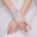 Vintage Pearl Rhinestone Lace Flower Bridal Wristlet Wedding Dress Crystal Bracelet Chain Accessories