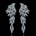 Gorgeous Eagle Shape Crystal Bridal Earrings Gold Plated Long Drop Earrings for Women Wedding Accessories