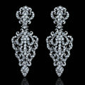 New Design Crystal Unique Vase Shape Dangle Drop Earrings Wedding Jewelry Earrings for Women