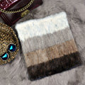 New Luxurious Fashion Knitted Real Mink Fur Shawl Pullover Women's Four Color Block Mink Fur Scarves Wrap