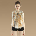New Luxury Genuine Natural Red Fox Fur Vest Women Fashion Warm Short Fox Fur Waistcoat