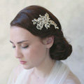 Retro Baroque Gold Plated Crystal Beads Pearl Wedding Bridal Hair Barrettes Clip Accessories