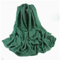 Classic Plaid Unisex Scarf Shawl Winter Warm Cotton Solid Panties 150*120CM - Blackish Green