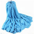 Classic Plaid Unisex Scarf Shawl Winter Warm Cotton Solid Panties 150*120CM - Blue